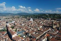 Over de daken van Florence Stock Foto's