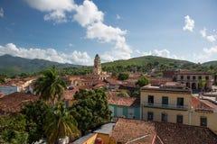 Over de daken van Trinidad, Cuba Stock Foto's