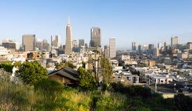 Over de Gebouwen San Francisco California van Buurthuizen Royalty-vrije Stock Fotografie