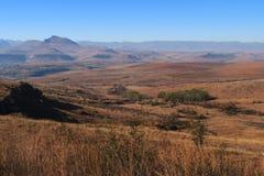 Over de grens aan Lesotho Stock Foto