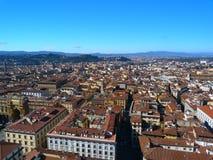 Over de hele stad van Florence Stock Afbeeldingen