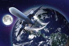 Over de hele wereld de Manieren van de lucht Stock Foto