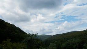 Over de heuvel en ver weg Stock Foto