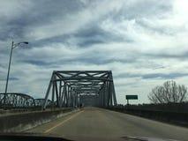 Over de rivier van de Mississippi royalty-vrije stock afbeelding