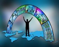 Over de wereld Stock Foto