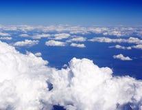 Over de wolken royalty-vrije stock afbeeldingen