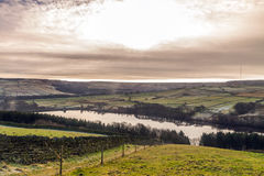 Over Digley reservoir Royalty Free Stock Image