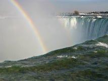 Over The Edge. Horseshoe Falls at Niagara Falls royalty free stock image
