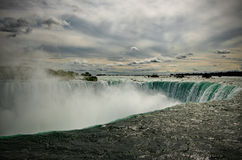Over the Edge - Niagara Falls. At the edge Niagara Falls Royalty Free Stock Photo