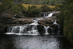 Over the Falls. A waterfall a few short minutes from the Cradle Mountain visitors centre Royalty Free Stock Photography