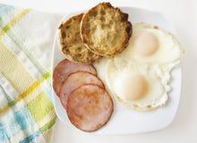 Over Gemakkelijke Eieren Royalty-vrije Stock Foto