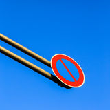 Over-Hang Traffic Sign Royalty Free Stock Photos