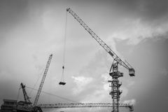 Over head cranes Royalty Free Stock Photo