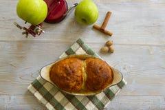 Fresh baked apple dumplings Stock Photo