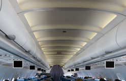 Over head Interior of airplane Royalty Free Stock Photo