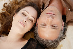 Over head portrait couple. Stock Image
