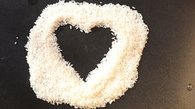 Over the heart of rice fly soap bubbles stock video