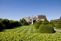 Over the hedge at Lytes Cary Stock Photo