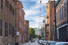 Over het Rijn-district in Cincinnati Van de binnenstad, Ohio in de Was royalty-vrije stock foto's