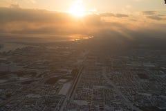Over Hokkaido, Japan stock fotografie