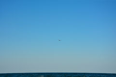 Over horizon. Blue sky over beautiful sea horizon Royalty Free Stock Photo