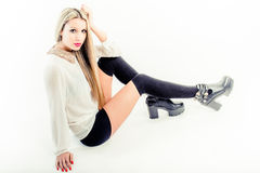 Over the knee socks Stock Image