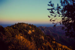 Over looking the Mountain Range from Albuquerque, NM stock photography