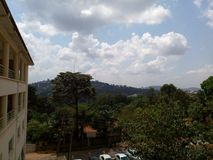 Sky line view, Nakasero hospital, Kampala stock image