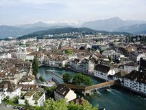 Over Luzern Royalty-vrije Stock Foto's