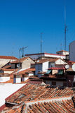 Over the Madrid`s roofs Stock Image