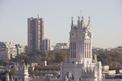 Over Madrid. View of the capital of Spain stock image