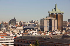 Over Madrid. View of the capital of Spain Royalty Free Stock Photo
