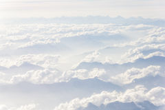 Over The Mountains. Photo was taken on the airplane on altitude of about 33000 feet Stock Photos