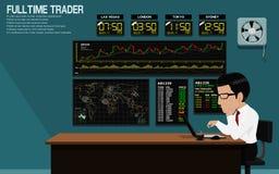 Over Night Trader Stock Photos
