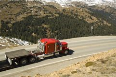 Over the pass. Over the road and over the Contential Divide in Colorado Royalty Free Stock Photography