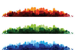 Over print cityscapes Royalty Free Stock Images