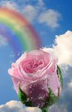 Over the Rainbow. A fantasy, magical background for you to use in your artistic creations Royalty Free Stock Image