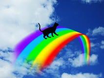 Over the Rainbow Bridge 2. A black cat going over the Rainbow Bridge Royalty Free Stock Photo
