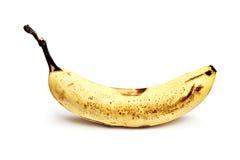 Over Ripe Banana on White Background Royalty Free Stock Image