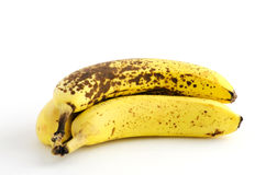 Over ripe bananas. On white background Royalty Free Stock Photography