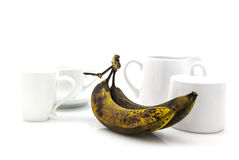 Over ripe bananas for breakfast Stock Photo