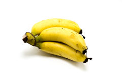 Over ripe bananas isolated on white background Royalty Free Stock Image