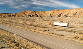 Over The Road Long Haul 18 Wheeler Big Rig Truck Stock Photography