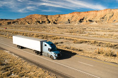 Over The Road Long Haul 18 Wheeler Big Rig Truck Royalty Free Stock Images
