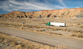 Over The Road Long Haul 18 Wheeler Big Rig Truck Royalty Free Stock Photography