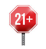 Over 21 road sign illustration design. Over a white background Royalty Free Stock Image