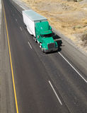 Over the Road Transport Semi Truck Hauling Cargo Containier Royalty Free Stock Photography