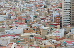 Over the roofs Alicante, Valencia, Spain Stock Photography