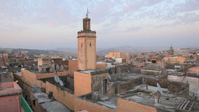 Over the roofs of Fes, Morocco stock video