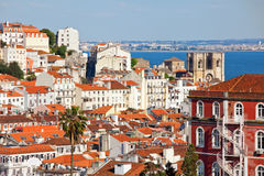 Over the roofs of Lisbon Stock Photography